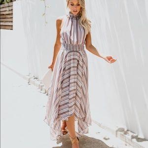 Hi low maxi dress size Small